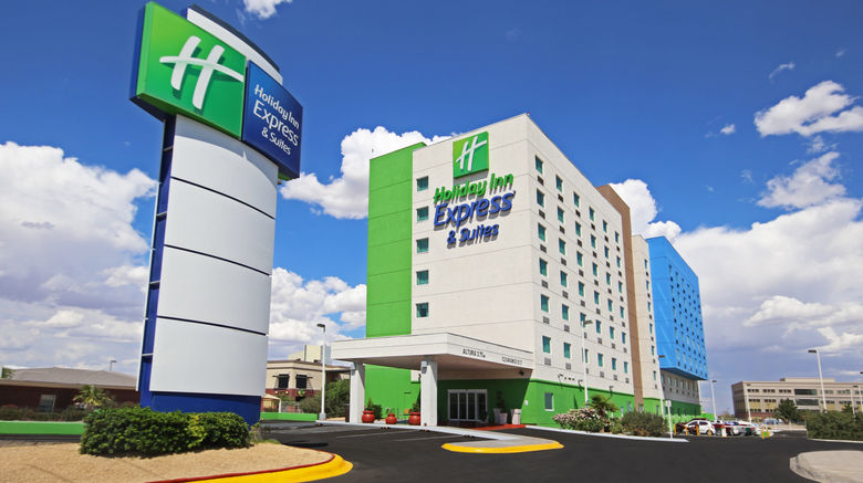 "Holiday Inn Express  and  Suites Juarez Exterior. Images powered by <a href=""http://www.leonardo.com"" target=""_blank"" rel=""noopener"">Leonardo</a>."