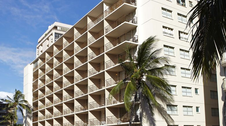 "Pearl Hotel Waikiki Exterior. Images powered by <a href=""http://www.leonardo.com"" target=""_blank"" rel=""noopener"">Leonardo</a>."