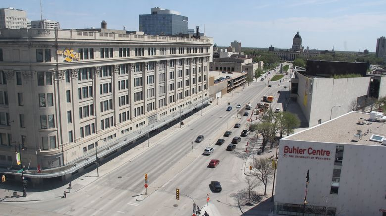 "Holiday Inn  and  Suites Winnipeg Exterior. Images powered by <a href=""http://www.leonardo.com"" target=""_blank"" rel=""noopener"">Leonardo</a>."
