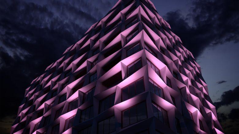"Hotel X Brisbane Fortitude Valley Exterior. Images powered by <a href=""http://www.leonardo.com"" target=""_blank"" rel=""noopener"">Leonardo</a>."