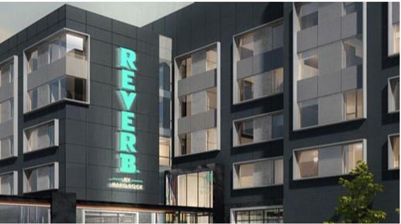 "Reverb by Hard Rock Atlanta Exterior. Images powered by <a href=""http://www.leonardo.com"" target=""_blank"" rel=""noopener"">Leonardo</a>."
