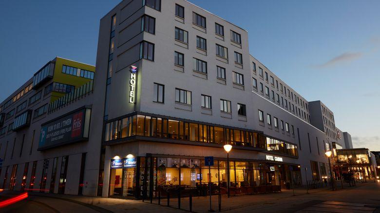"CABINN Aalborg Hotel Exterior. Images powered by <a href=""http://www.leonardo.com"" target=""_blank"" rel=""noopener"">Leonardo</a>."