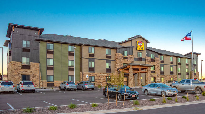 """My Place Hotel-Green Bay Exterior. Images powered by <a href=""""http://www.leonardo.com"""" target=""""_blank"""" rel=""""noopener"""">Leonardo</a>."""
