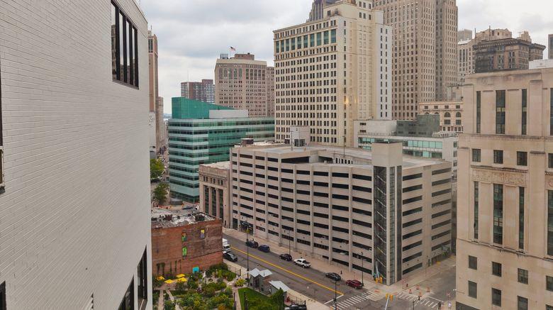 "Hotel Indigo Detroit Downtown Exterior. Images powered by <a href=""http://www.leonardo.com"" target=""_blank"" rel=""noopener"">Leonardo</a>."