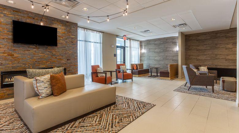 "Candlewood Suites Fargo Lobby. Images powered by <a href=""http://www.leonardo.com"" target=""_blank"" rel=""noopener"">Leonardo</a>."