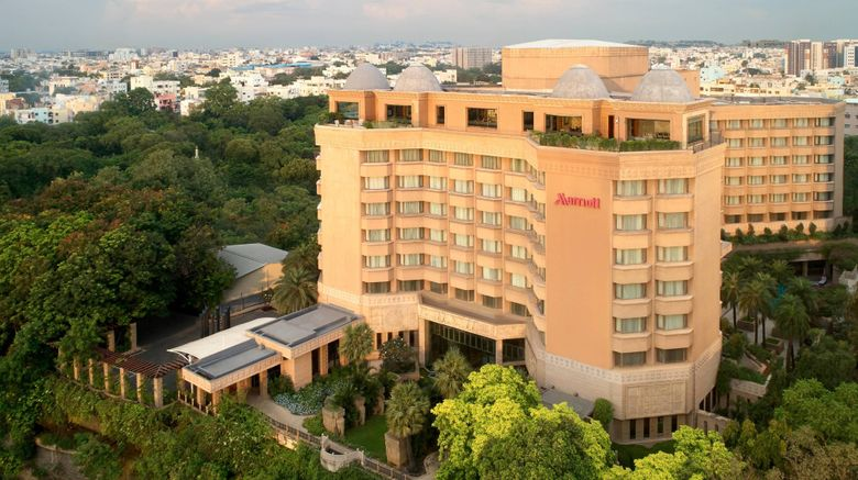 "Hyderabad Marriott Hotel  and  Conv Centre Exterior. Images powered by <a href=""http://www.leonardo.com"" target=""_blank"" rel=""noopener"">Leonardo</a>."