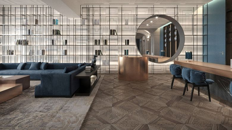 """Hotel Luc, Autograph Collection Lobby. Images powered by <a href=""""http://www.leonardo.com"""" target=""""_blank"""" rel=""""noopener"""">Leonardo</a>."""