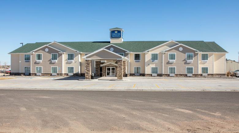 "Cobblestone Inn  and  Suites - Pine Bluffs Exterior. Images powered by <a href=""http://www.leonardo.com"" target=""_blank"" rel=""noopener"">Leonardo</a>."