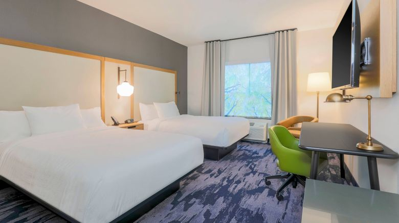"""Fairfield Inn  and  Suites Cape Coral Room. Images powered by <a href=""""http://www.leonardo.com"""" target=""""_blank"""" rel=""""noopener"""">Leonardo</a>."""