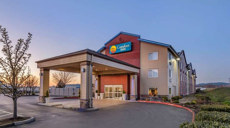 """Comfort Inn Columbia Gorge Gateway Exterior. Images powered by <a href=""""http://web.iceportal.com"""" target=""""_blank"""" rel=""""noopener"""">Ice Portal</a>."""