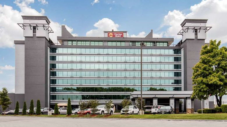 """Clarion Hotel Downtown Nashville-Stadium Exterior. Images powered by <a href=""""http://web.iceportal.com"""" target=""""_blank"""" rel=""""noopener"""">Ice Portal</a>."""