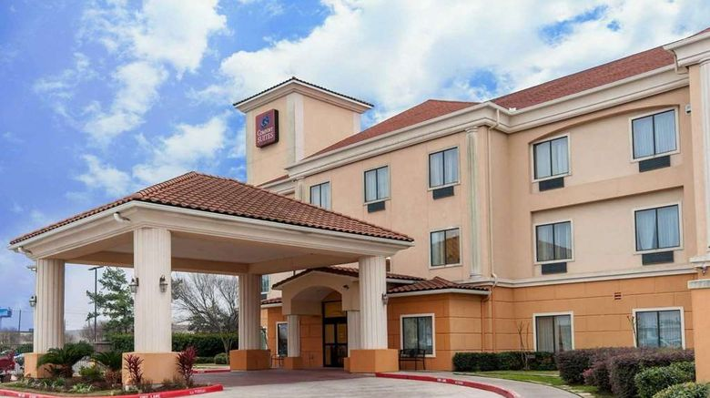 """Comfort Suites Hobby Airport Exterior. Images powered by <a href=""""http://web.iceportal.com"""" target=""""_blank"""" rel=""""noopener"""">Ice Portal</a>."""