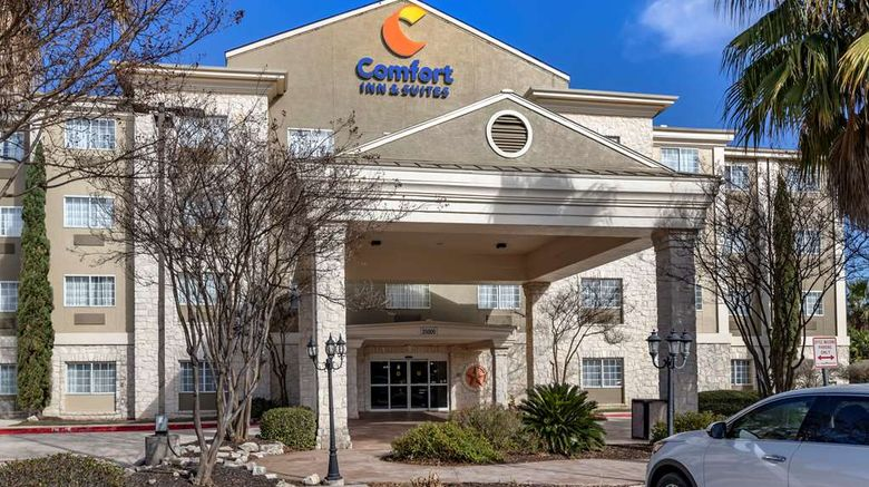 """Comfort Inn  and  Suites Boerne Exterior. Images powered by <a href=""""http://web.iceportal.com"""" target=""""_blank"""" rel=""""noopener"""">Ice Portal</a>."""