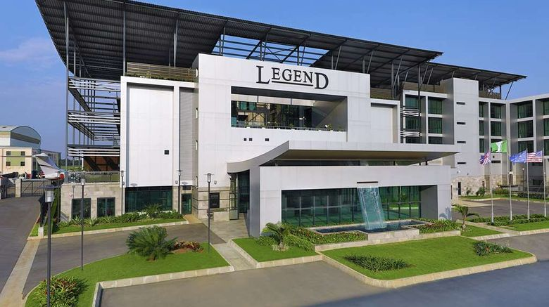 """Legend Hotel Lagos Airport Exterior. Images powered by <a href=""""http://web.iceportal.com"""" target=""""_blank"""" rel=""""noopener"""">Ice Portal</a>."""