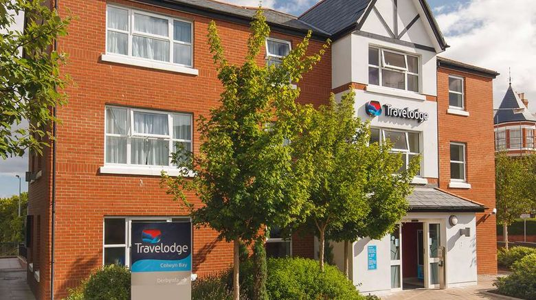 """Travelodge Colwyn Bay Exterior. Images powered by <a href=""""http://web.iceportal.com"""" target=""""_blank"""" rel=""""noopener"""">Ice Portal</a>."""