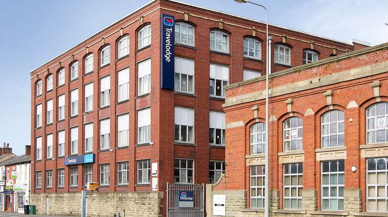 """Travelodge Preston Central Exterior. Images powered by <a href=""""http://web.iceportal.com"""" target=""""_blank"""" rel=""""noopener"""">Ice Portal</a>."""