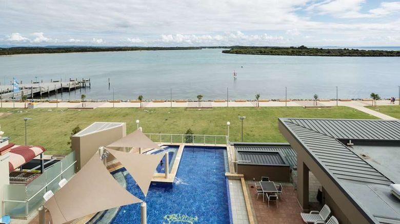 """Rydges Port Macquarie Exterior. Images powered by <a href=""""http://web.iceportal.com"""" target=""""_blank"""" rel=""""noopener"""">Ice Portal</a>."""