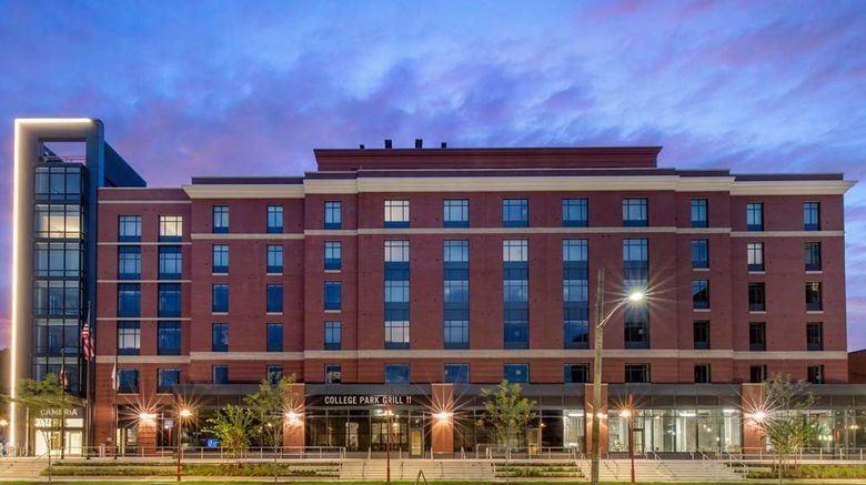 """CAMBRiA Hotel College Park Exterior. Images powered by <a href=""""http://web.iceportal.com"""" target=""""_blank"""" rel=""""noopener"""">Ice Portal</a>."""