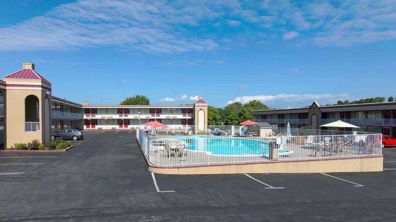 """Travelodge Lynchburg Exterior. Images powered by <a href=""""http://web.iceportal.com"""" target=""""_blank"""" rel=""""noopener"""">Ice Portal</a>."""