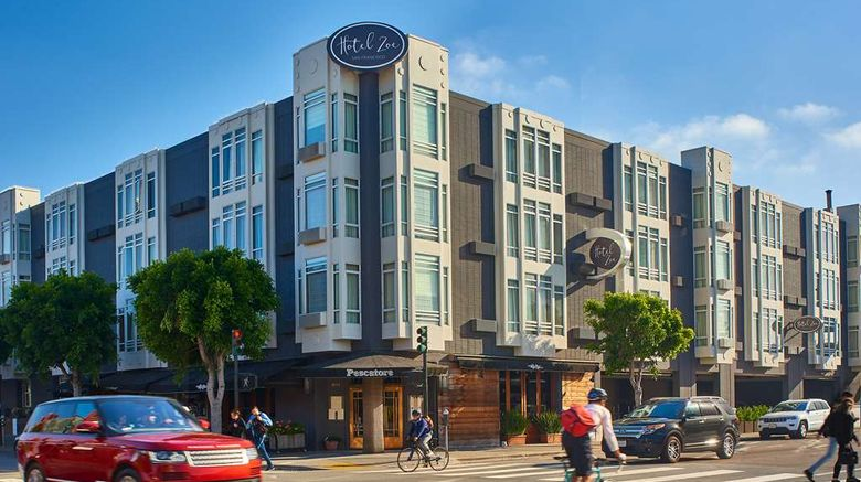 """Hotel Zoe Fishermans Wharf Exterior. Images powered by <a href=""""http://web.iceportal.com"""" target=""""_blank"""" rel=""""noopener"""">Ice Portal</a>."""