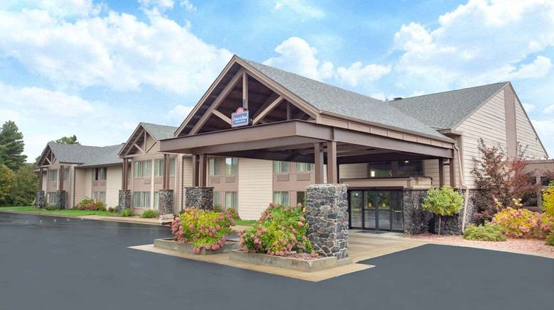 """AmericInn by Wyndham Black River Falls Exterior. Images powered by <a href=""""http://web.iceportal.com"""" target=""""_blank"""" rel=""""noopener"""">Ice Portal</a>."""
