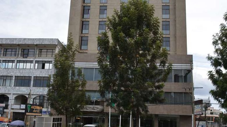 """Azzeman Hotel Addis Ababa Exterior. Images powered by <a href=""""http://web.iceportal.com"""" target=""""_blank"""" rel=""""noopener"""">Ice Portal</a>."""