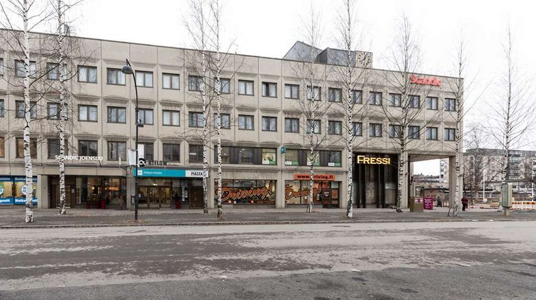 """Scandic Joensuu Exterior. Images powered by <a href=""""http://web.iceportal.com"""" target=""""_blank"""" rel=""""noopener"""">Ice Portal</a>."""