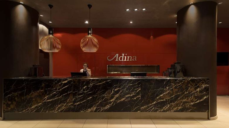 """Adina Apartment Htl Frankfurt Neue Oper Lobby. Images powered by <a href=""""http://web.iceportal.com"""" target=""""_blank"""" rel=""""noopener"""">Ice Portal</a>."""