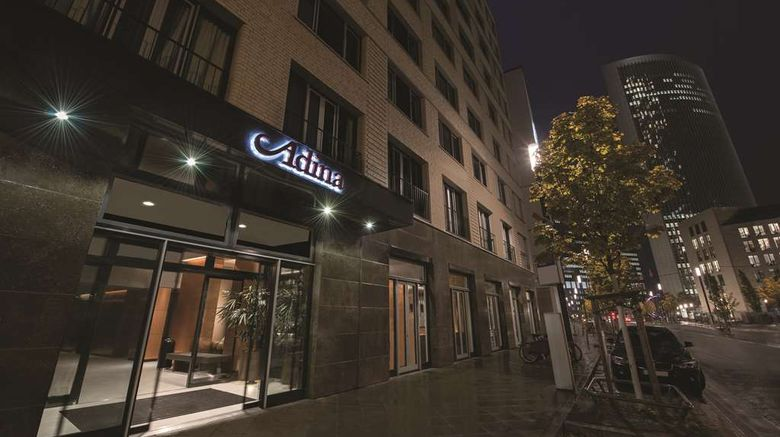 """Adina Apartment Hotel Frankfurt Westend Exterior. Images powered by <a href=""""http://web.iceportal.com"""" target=""""_blank"""" rel=""""noopener"""">Ice Portal</a>."""