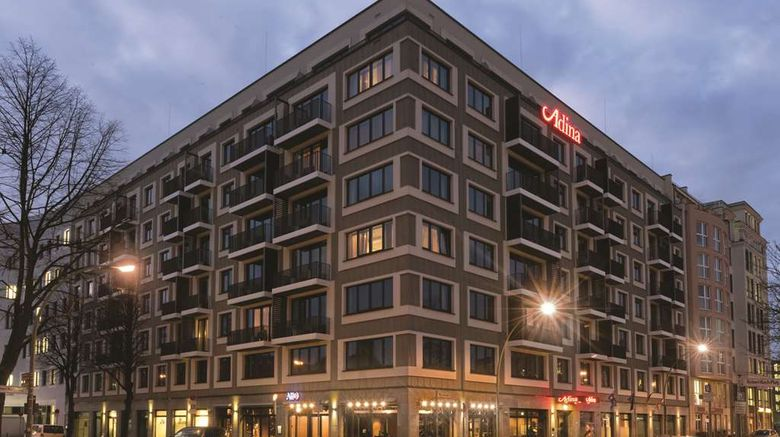 """Adina Apartment Hotel Berlin Mitte Exterior. Images powered by <a href=""""http://web.iceportal.com"""" target=""""_blank"""" rel=""""noopener"""">Ice Portal</a>."""