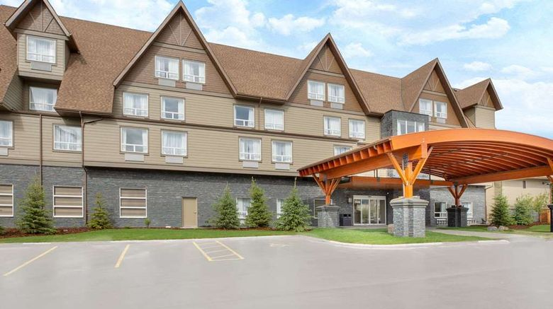 """Super 8 by Wyndham Canmore Exterior. Images powered by <a href=""""http://web.iceportal.com"""" target=""""_blank"""" rel=""""noopener"""">Ice Portal</a>."""