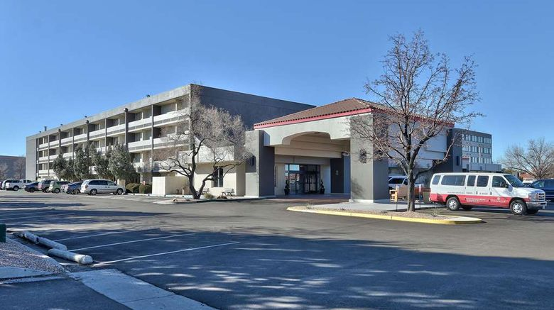 """Ramada by Wyndham Albuquerque Midtown Exterior. Images powered by <a href=""""http://web.iceportal.com"""" target=""""_blank"""" rel=""""noopener"""">Ice Portal</a>."""
