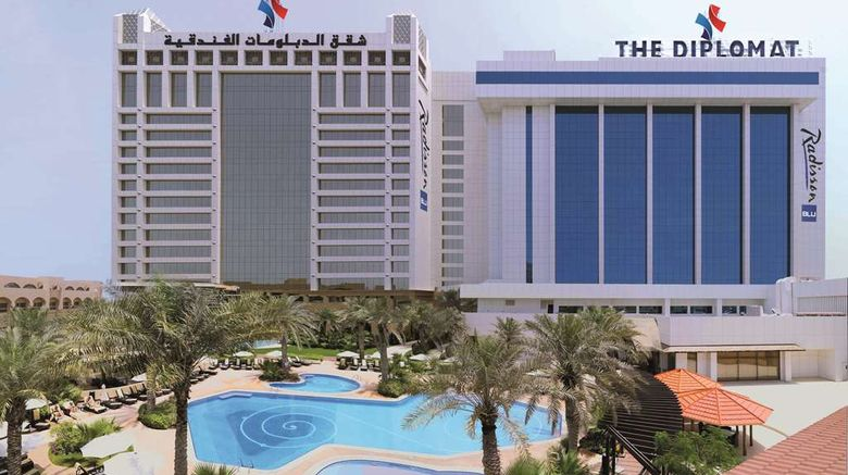 """The Diplomat Radisson Blu Hotel Exterior. Images powered by <a href=""""http://web.iceportal.com"""" target=""""_blank"""" rel=""""noopener"""">Ice Portal</a>."""