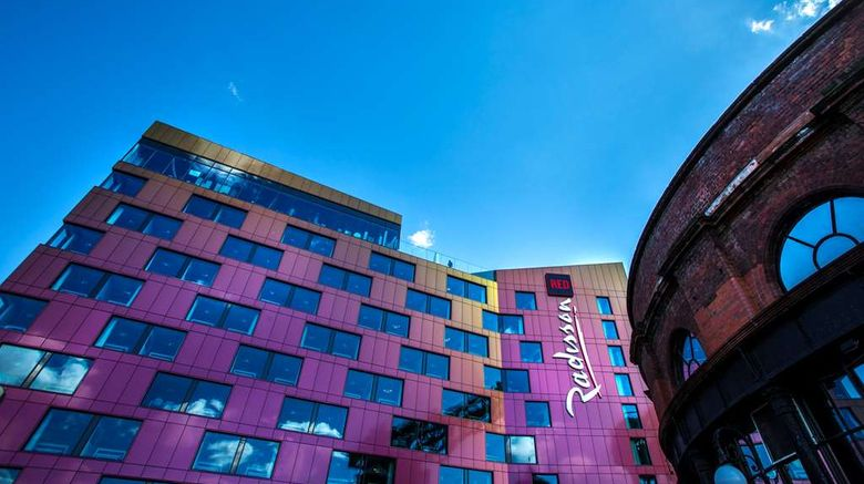 """Radisson Red Hotel Glasgow Exterior. Images powered by <a href=""""http://web.iceportal.com"""" target=""""_blank"""" rel=""""noopener"""">Ice Portal</a>."""