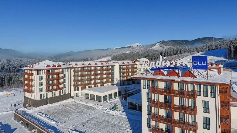 """Radisson Blu Resort Bukovel Exterior. Images powered by <a href=""""http://web.iceportal.com"""" target=""""_blank"""" rel=""""noopener"""">Ice Portal</a>."""