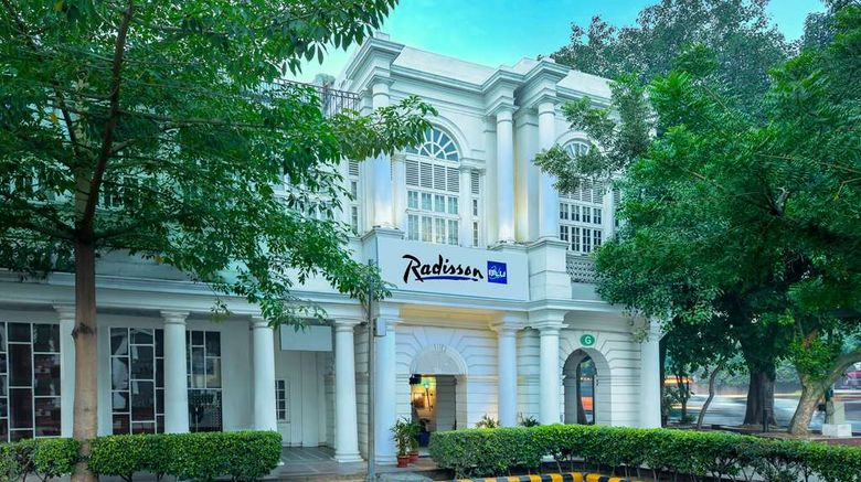 """Radisson Blu Marina Hotel Connaught Plac Exterior. Images powered by <a href=""""http://web.iceportal.com"""" target=""""_blank"""" rel=""""noopener"""">Ice Portal</a>."""