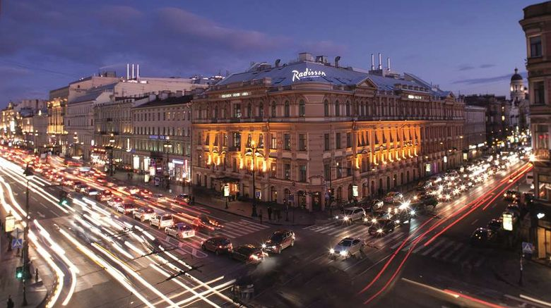 """Radisson Royal Hotel St Petersburg Exterior. Images powered by <a href=""""http://web.iceportal.com"""" target=""""_blank"""" rel=""""noopener"""">Ice Portal</a>."""