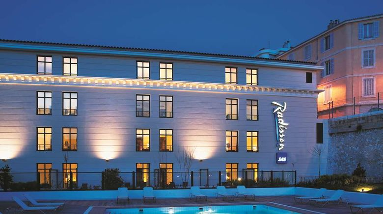 """Radisson Blu Hotel Marseille Exterior. Images powered by <a href=""""http://web.iceportal.com"""" target=""""_blank"""" rel=""""noopener"""">Ice Portal</a>."""