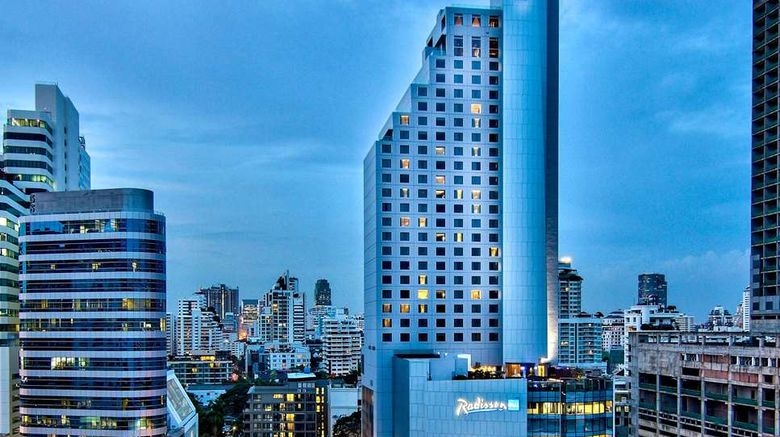 """Radisson Blu Plaza Bangkok Exterior. Images powered by <a href=""""http://web.iceportal.com"""" target=""""_blank"""" rel=""""noopener"""">Ice Portal</a>."""
