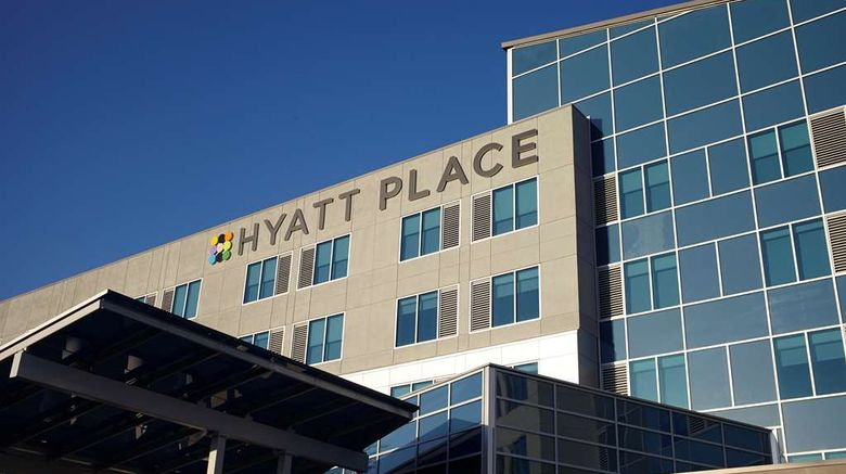 """Hyatt Place Greensboro Downtown Exterior. Images powered by <a href=""""http://web.iceportal.com"""" target=""""_blank"""" rel=""""noopener"""">Ice Portal</a>."""