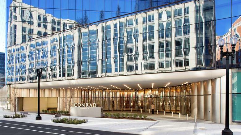 """Conrad Washington DC Exterior. Images powered by <a href=""""http://web.iceportal.com"""" target=""""_blank"""" rel=""""noopener"""">Ice Portal</a>."""