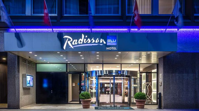 """Radisson Blu Hotel Basel Exterior. Images powered by <a href=""""http://web.iceportal.com"""" target=""""_blank"""" rel=""""noopener"""">Ice Portal</a>."""