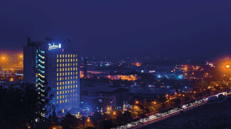 """Radisson Blu Hotel Greater Noida Exterior. Images powered by <a href=""""http://web.iceportal.com"""" target=""""_blank"""" rel=""""noopener"""">Ice Portal</a>."""