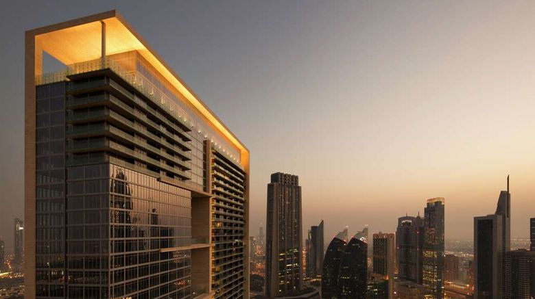 """Waldorf Astoria Dubai Intl Finance Ctr Exterior. Images powered by <a href=""""http://web.iceportal.com"""" target=""""_blank"""" rel=""""noopener"""">Ice Portal</a>."""