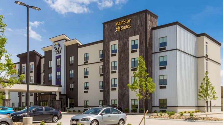 """MainStay Suites Logan Exterior. Images powered by <a href=""""http://web.iceportal.com"""" target=""""_blank"""" rel=""""noopener"""">Ice Portal</a>."""