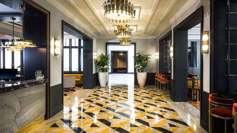 """AMERON Frankfurt Neckarvillen Boutique Lobby. Images powered by <a href=""""http://web.iceportal.com"""" target=""""_blank"""" rel=""""noopener"""">Ice Portal</a>."""