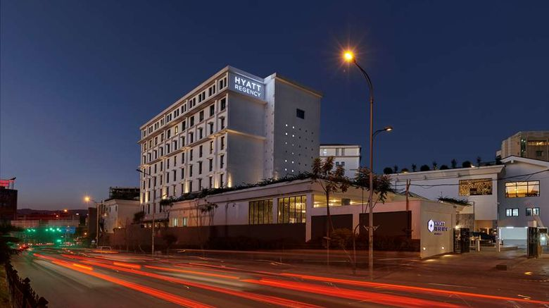 """Hyatt Regency Addis Ababa Exterior. Images powered by <a href=""""http://web.iceportal.com"""" target=""""_blank"""" rel=""""noopener"""">Ice Portal</a>."""