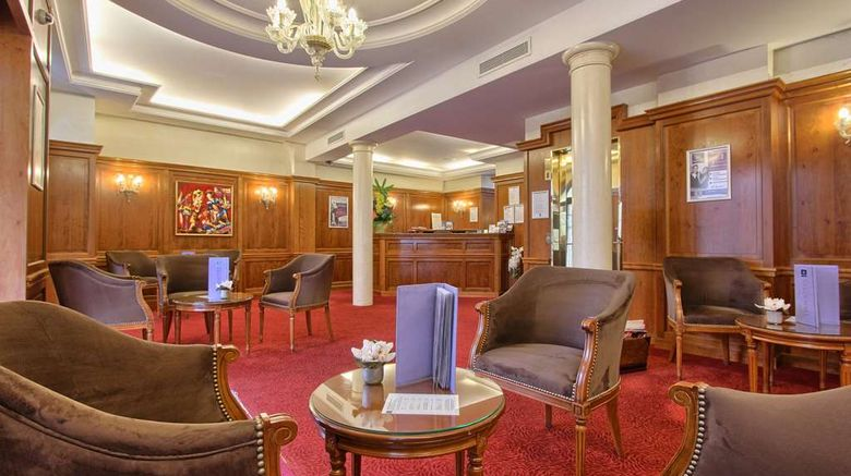 """Timhotel Tour Montparnasse Lobby. Images powered by <a href=""""http://web.iceportal.com"""" target=""""_blank"""" rel=""""noopener"""">Ice Portal</a>."""