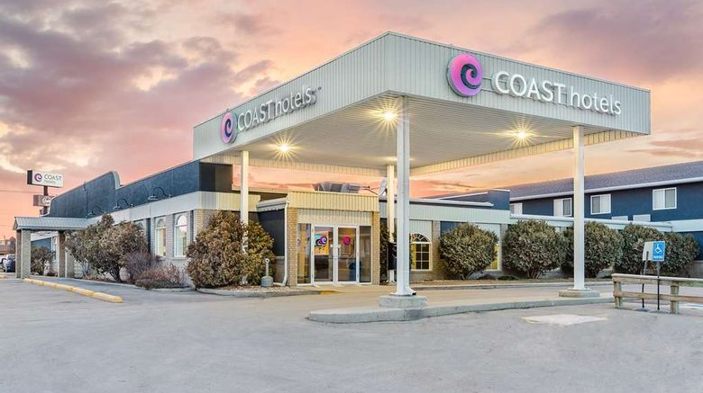 """Coast Swift Current Hotel Exterior. Images powered by <a href=""""http://web.iceportal.com"""" target=""""_blank"""" rel=""""noopener"""">Ice Portal</a>."""