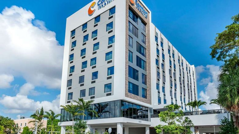 """Comfort Inn  and  Suites Miami Intl Airport Exterior. Images powered by <a href=""""http://web.iceportal.com"""" target=""""_blank"""" rel=""""noopener"""">Ice Portal</a>."""